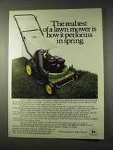 1981 John Deere 21-inch Lawn Mower Ad - Real Test - $14.99