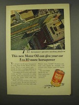 1956 Shell  X-100 Motor Oil Ad - Give More Horsepower - $14.99