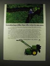 1982 John Deere 820 Rear-tine Tiller Ad - Tills Twice - $14.99