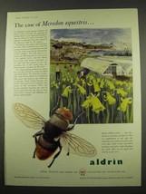 1956 Shell Aldrin Ad - The Case of Merodon Equestris - $14.99