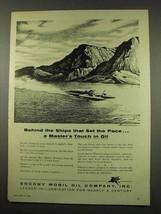1956 Socony Mobil Oil Ad - Bluebird Jet Boat - $14.99