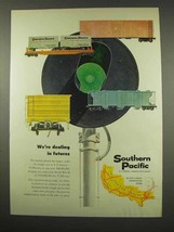 1956 Southern Pacific Railroad Ad - Dealing in Futures - $14.99