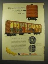 1956 Southern Pacific Railroad Ad - Picture Window Car - $14.99