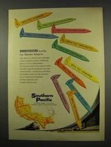 1956 Southern Pacific Railroad Ad - Diversification - $14.99