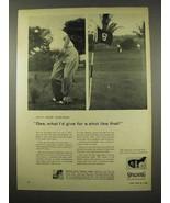 1956 Spalding Bobby Jones Synchro-Dyned Golf Clubs Ad - $14.99