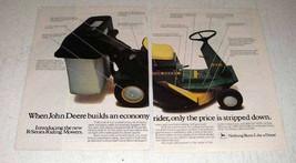 1984 John Deere R70 Riding Mower Ad - Price Stripped - $14.99