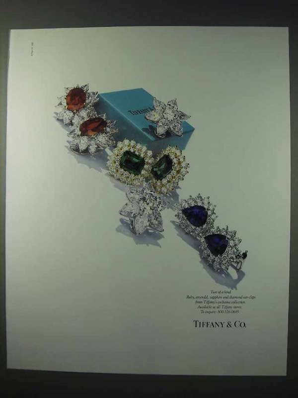 1990 Tiffany Co Jewelry Ad