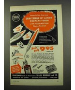 1957 Craftsman Jet Action Propane Torch Ad - $14.99