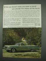 1960 Chevrolet Bel Air Sport Coupe Car Ad - Travel! - $14.99