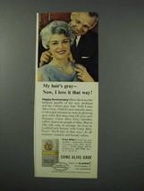 1960 Clairol Come Alive Gray Hair Color Ad - I Love It - $14.99