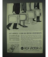 1960 RCA Victor TV Set Ad - Entertainer, Highlander + - $14.99