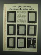 1960 Zippo Cigarette Lighters Ad - Christmas Guide - $14.99