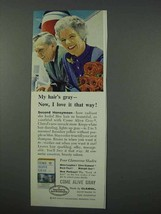 1961 Clairol Come Alive Gray Hair Color Ad - I Love It - $14.99