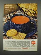 1961 Campbell's Tomato Soup Ad - Crackers - $14.99