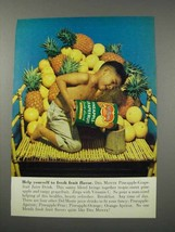 1961 Del Monte Pineapple Grapefruit Juice Drink Ad - Flavor - $14.99