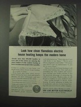 1961 Edison Electric Institute Ad - Clean House Heating - $14.99