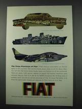 1961 Fiat Ad - Car, Marine Diesel, NATO G91 Jet Fighter - $14.99