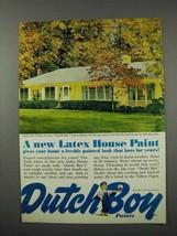 1961 Dutch Boy Latex House Paint Ad - Cape Cod Yellow - $14.99