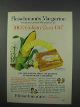 1961 Fleischmann's Corn Oil Margarine Ad - $14.99
