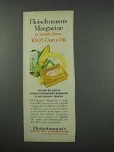 1961 Fleischmann's Corn Oil Margarine Ad - NICE - $14.99