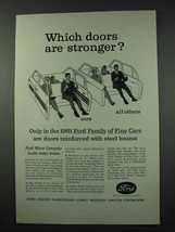 1961 Ford Motor Company Ad - Doors are Stronger - $14.99
