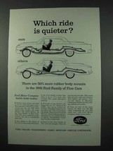 1961 Ford Motor Company Ad - Ride is Quieter - $14.99
