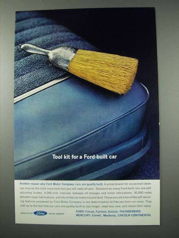 Primary image for 1961 Ford Motor Company Ad - Tool Kit for Car
