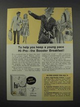 1961 General Mills Hi-Pro Cereal Ad - Keep a Young Pace - $14.99