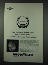 1961 Goodyear Captive-Air Double Eagle Tire Ad - $14.99