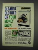 1961 Westinghouse Model LAB Laundromat Washer Ad - $14.99