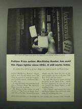 1961 Zippo Cigarette Lighter Ad - MacKinlay Kantor - $14.99
