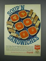 1962 Campbell's Tomato Soup Ad - Sandwiches - $14.99