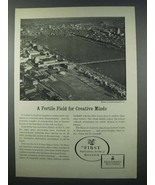 1962 First National Bank of Boston Ad - Creative Minds - $14.99