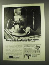 1975 Sears Craftsman Commercial Router Ad - Save - $14.99
