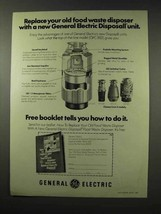 1976 General Electric GFC 852 Disposall Unit Ad - $14.99
