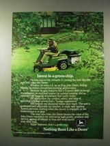 1977 John Deere 68 Riding Mower Ad - Invest Green Chip - $14.99