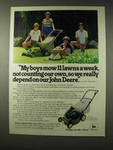 1980 John Deere 21-inch Mower Ad - My Boys Mow - $14.99