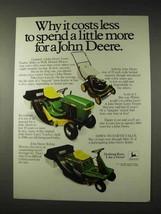 1981 John Deere 111 Lawn Tractor, 68 Riding Mower Ad - $14.99