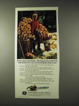 1981 John Deere Chain Saw Ad - Boss Hires Some Kid - $14.99