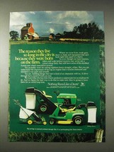 1982 John Deere 108 Lawn Tractor, 68 Riding Mower Ad - $14.99