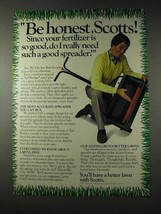 1982 Scotts Turf Builder, Spreader Ad - Be Honest - $14.99