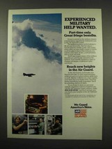 1982 U.S. Air National Guard Ad - Help Wanted - $14.99