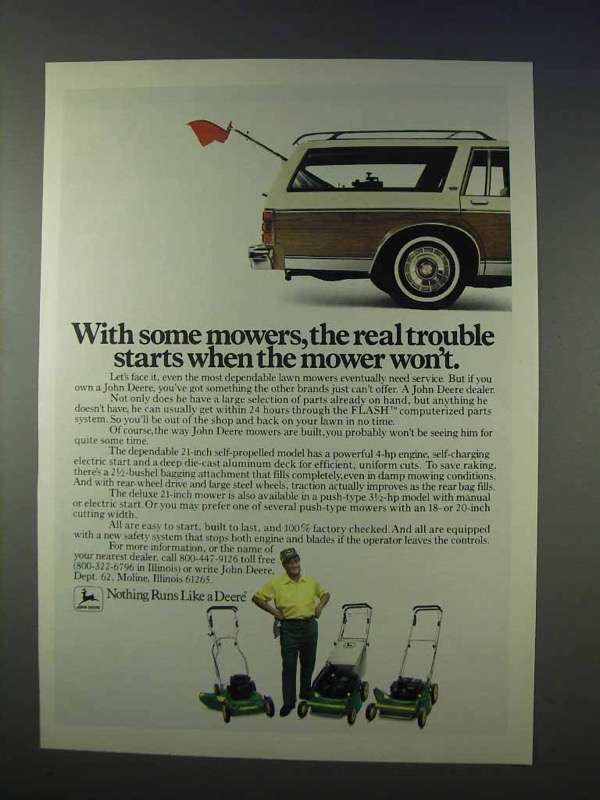 1983 John Deere Lawn Mower Ad - The Real Trouble Starts