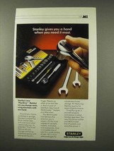 1983 Stanley Flip Drive Ratchet Ad - Gives You A Hand - $14.99