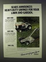 1984 Craftsman Garden Tractor, Rear-Tine Tiller Ad - $14.99