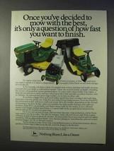 1984 John Deere 116 Lawn Tractor, R70 Riding Mower Ad - $14.99