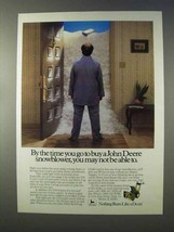 1984 John Deere 524 Snowblower Ad - By The Time You Go - $14.99