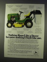 1985 John Deere 112 L Lawn Tractor Ad - Nothing Like - $14.99