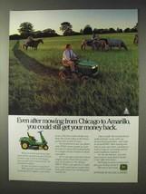 1991 John Deere LX172, SRX75 Lawn Tractor Ad - $14.99