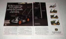 1992 John Deere 14SB SRX75 STX30 LX176 Lawn Mower Ad - $14.99